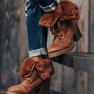 Brown Fur Lined Booties